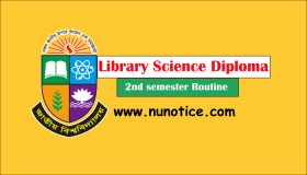 Library Science diploma routine 2020