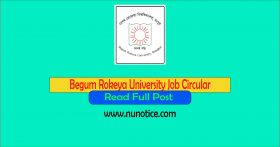 begum Rokeya university job circular 2020