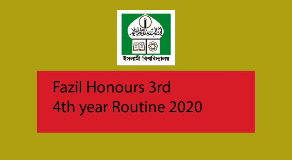 Fazil honours 3rd year routine 2020