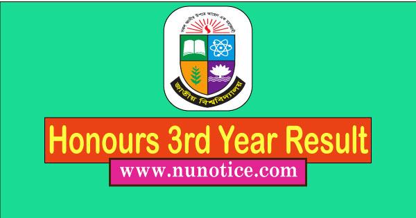 NU Honours 3rd year Result 2020