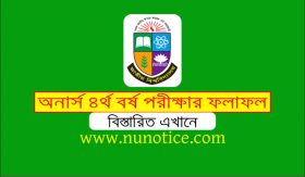 Honours 4th year result 2020