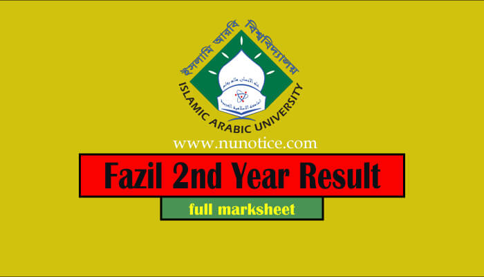 fazil 2nd year result 2020