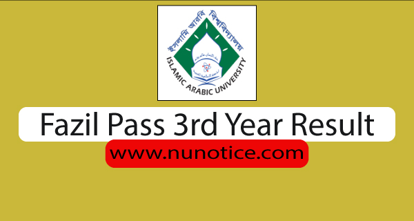 fazil 3rd year result 2020